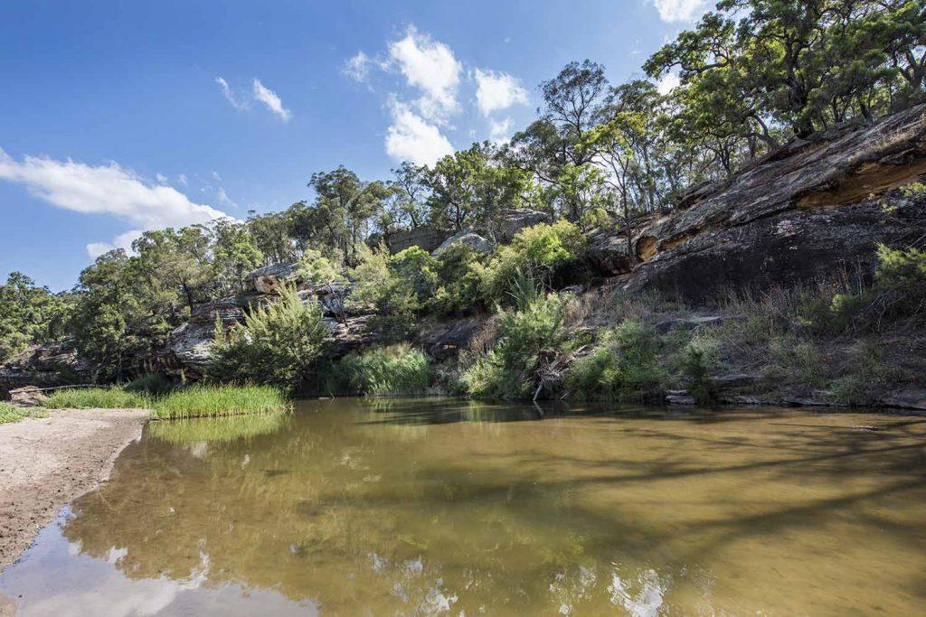 goulburn river national park gem fossiking walking hiking nature goanna